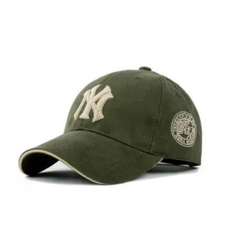 BMSO-118 Yankees Hip Hop Baseball Caps NY Hats Unisex Casual HatArmy Green - intl