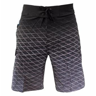 Board Shorts for Men Cross Black White