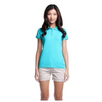 Bobson Ladies' Solid Polo Tee (Ceramic)