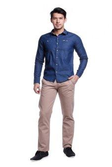 Bobson Men's Solid Long Sleeves Shirt (Mood Indigo)