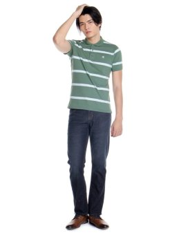Bobson Slim Fit Stripes Polo Tee (Myrtle) - 2