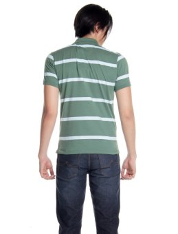 Bobson Slim Fit Stripes Polo Tee (Myrtle) - 3