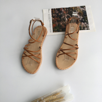 Bohemian female bandage cloth flat gladiator sandals (PARK'S color)