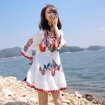 Bohemian female New style dress skirt beach skirt