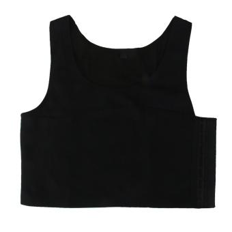 BolehDeals Tomboy Breathable Buckle Short Chest Breast Binder TankTop Vest Black XL