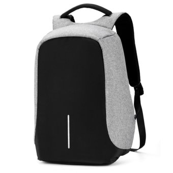 Boshikang Brand Computer Backpack Men Oxford Anti-theft NotebookBackpack 15/17 inch Waterproof Travel School Backpack Student(Gray)- intl Price Philippines