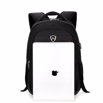 Boshikang Men Backpack Large Capacity Bagpack for Boys Daypack Laptop Back Pack Waterproof Oxford Black Student School Bag(Black) - intl - 5