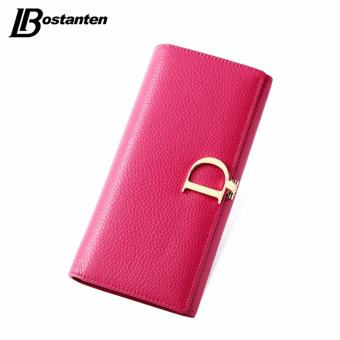 BOSTANTEN 2016 Genuine Leather Women Wallets Luxury Famous BrandWallets for Women Coin Purses Holders Ladies Wallet Long Purses -intl