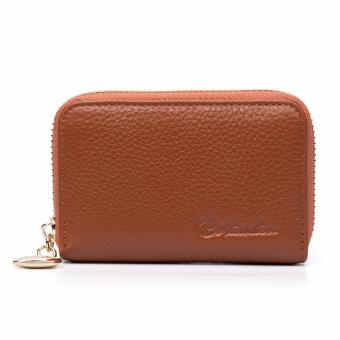 BOSTANTEN Genuine Leather Unisex Card Holder Wallets High QualityFemale Credit Card Holders Women Pillow Mini Card holder Purse -intl