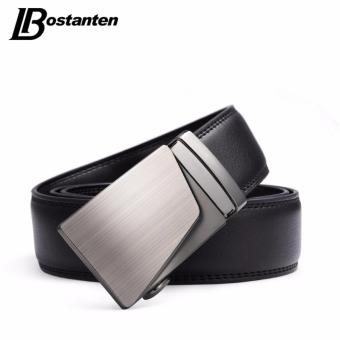 Bostanten Men's Genuine Cow Leather Belts Black With A Gift Box - intl - 2