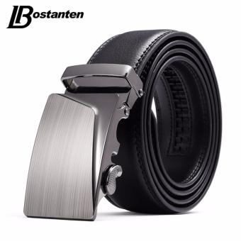 Bostanten Men's Genuine Cow Leather Belts Black With A Gift Box - intl