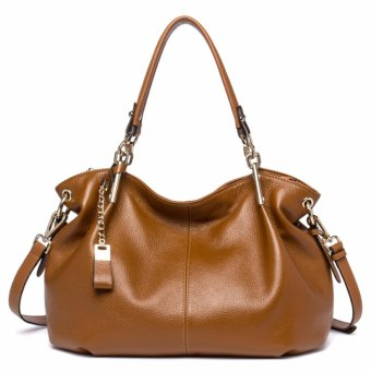 Bostanten Women's Genuine Cowhide Leather Handbag Fashion Shoulder Bag brown