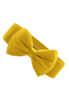 Bowknot Elastic Wide Belt (Yellow) - picture 2