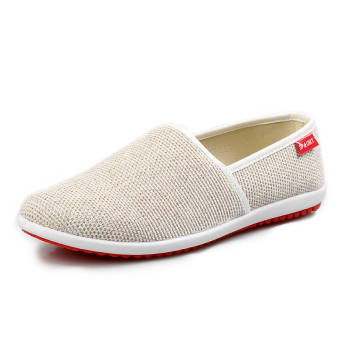 Breathable Linen Summer Fashion Sports Shoes - Beige - picture 2