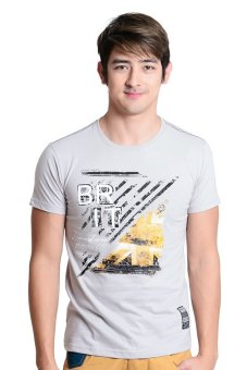 Brit London Roundneck T-Shirt (Beige Printed) - picture 2