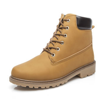 British Desert boots couple's shoes boots (Yellow)