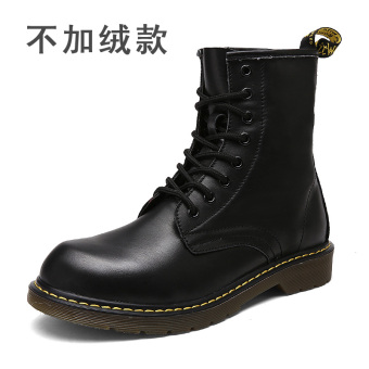 British Leather warm men shoes tooling boots Martin boots (7668 black boots (in))