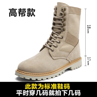 British men in hight-top shoes Dr. Martens (K003 sand color (hight-top))