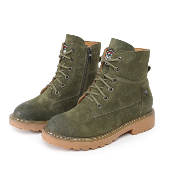 British style female Spring and Autumn single boots Dr. Martens (Green)