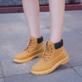 British style female spring New style boots Dr. Martens (Yellow) Price Philippines