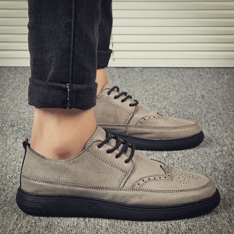 Bullock autumn New style men shoes (Gray)