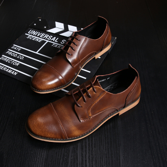 ... Bullock Leather British Male Pointed Business Shoes Brown Intl In Product Galerie