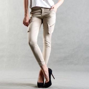BUM Ladies' Cargo Jogger with Zip Opening Front Pocket (Khaki) Price Philippines