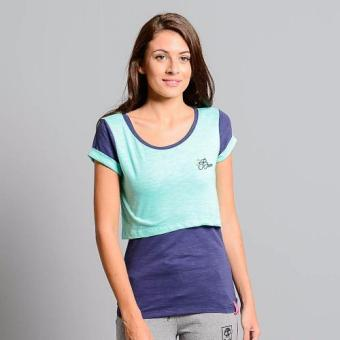 Bum Ladies Layering Tee (Cockatoo/ Deep Cobalt)