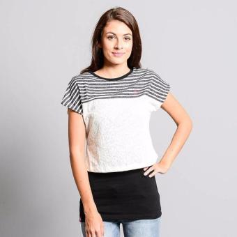 Bum Ladies Striper Tees (Cream Black)