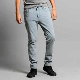 Bum Men's Basic Denim Pants (Bleached Gray)