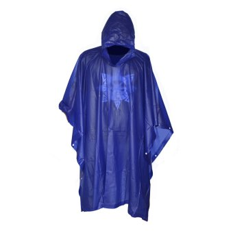 Butterfly Water Proof Rain Coat Man and Woman Blue