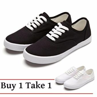 Buy 1 Take 1 Canvas Sneakers for Women - Black White