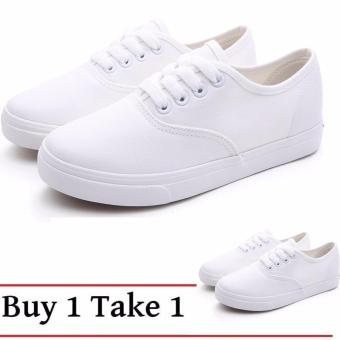 Buy 1 Take 1 Canvas Sneakers for Women - White