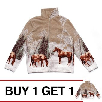 Buy 1 Take 1 PJ-01 Jacket with Horse Print (Multicolor)