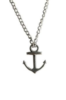Buytra Anchor Pendant Nautical Necklace Silver
