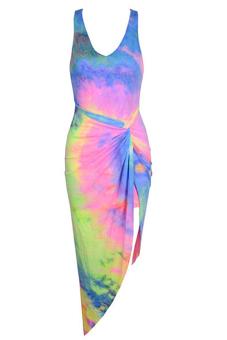 Buytra Cocktail Maxi Dress Beachwear Multicolor