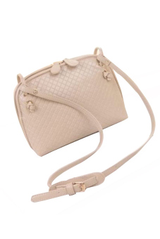 Buytra Faux Leather Cross Body Bag (Beige)