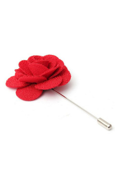 Buytra Lapel Pins Flower Handmade Boutonniere Stick Red - picture 2