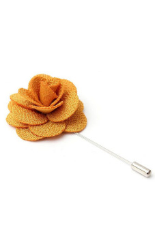 Buytra Lapel Pins Flower Handmade Boutonniere Stick Yellow