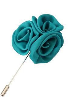 Buytra Men Brooch Pin Lapel Silk Rose Flower Daisy Blue