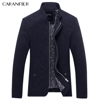 BYL caranfier arrival elite mens jacket outerwear slim coats (Blue)