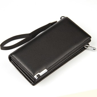 BYT Baellery Premium PU Leather Long Men Wallet Handbag PA404(Black)