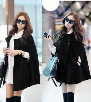 C1S Korea Charming Winter Cloak Coat Cape Poncho Wool Warm Jacket New - intl