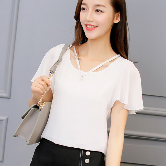 Caidaifei Korean-style solid spring and summer New style base shirt