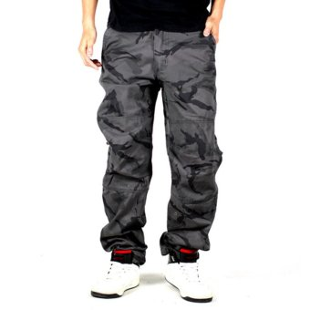 camouflage cargo pants for men tactical army military pants men'ssweatpants trousers casual clothing male overalls mens pants - intl