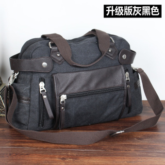 Campus bag casual travel bag canvas bag (Upgraded version of gray color)