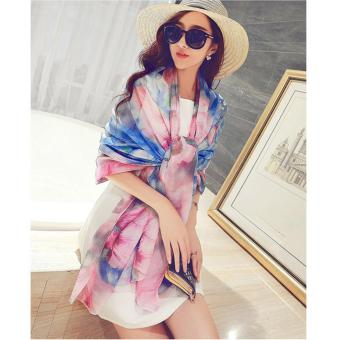 Candy Online Large Section Chiffon Summer Shawl Scarf Thin SectionSunscreen Scarf Air Conditioning Shawl Scarf #18