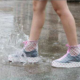 Candy Online Waterproof Non-slip rain shoe covers (Pink) - 4