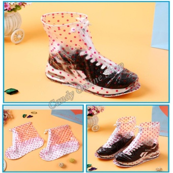 Candy Online Waterproof Non-slip rain shoe covers (Pink)