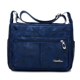 Canvas New style waterproof nylon shoulder messenger bag (Blue camouflage)